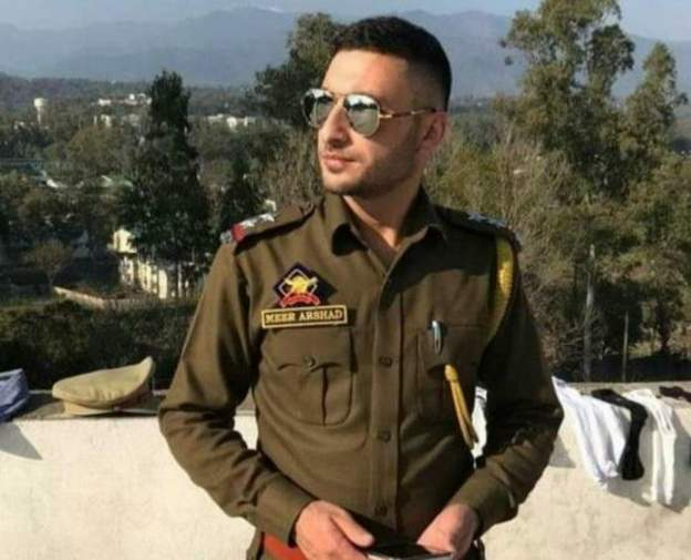 Crowd gathered at funeral of J&K police officer killed in militant attack