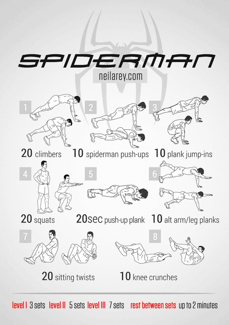 workout-routine-avengers-spiderman