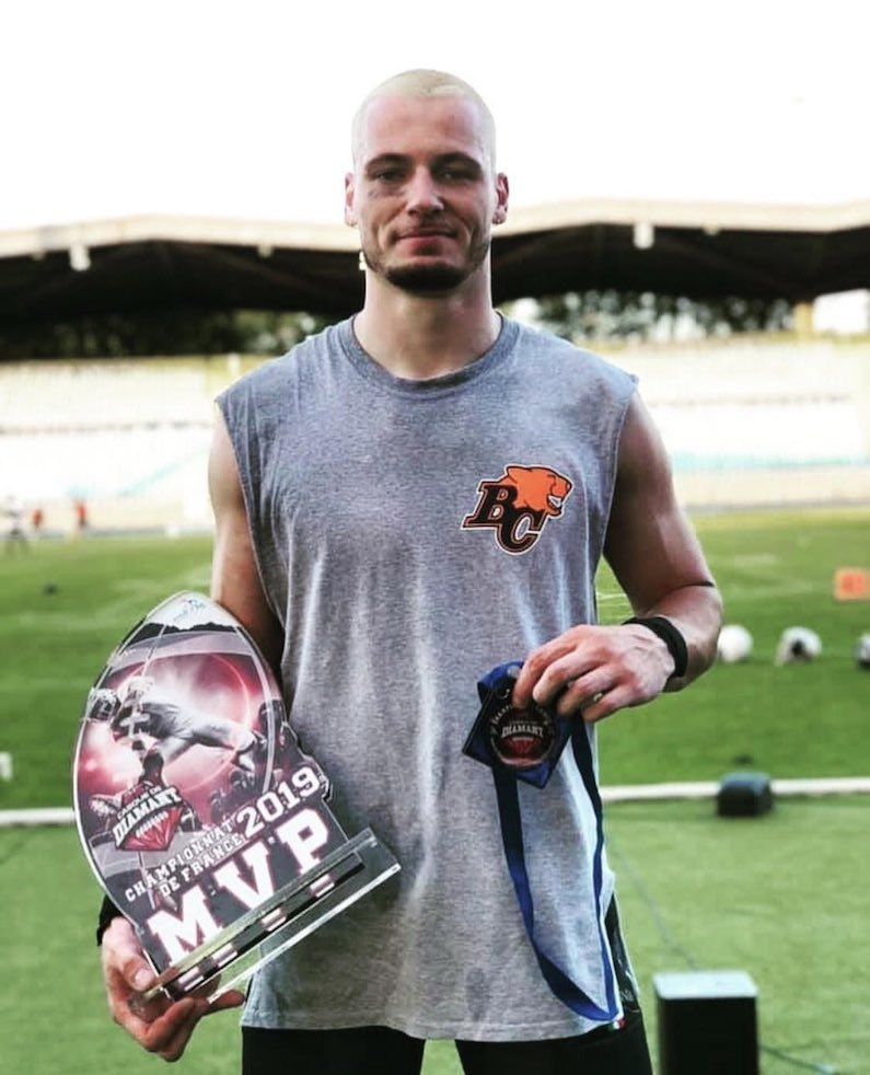 benjamin-plu-football-américain-bc-lions-black-panthers-thonon-champion-de-france