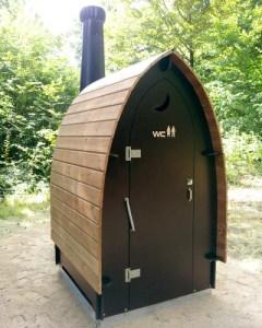 composting toilet at park