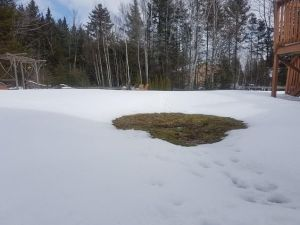 snow melt around septic tank