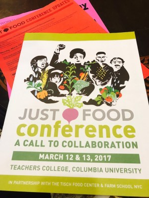 The Just Food Conference 2017: A Call to Collaboration
