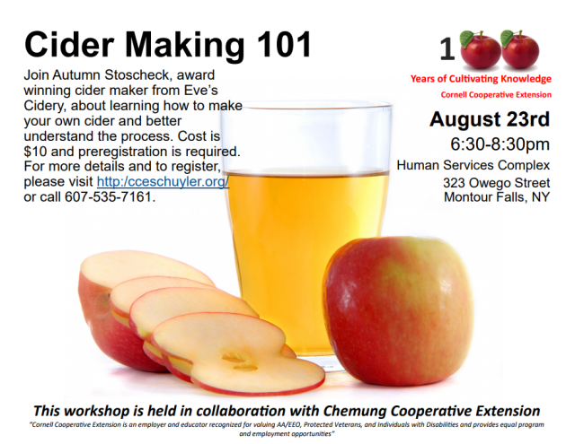 Cider 101 with Eve's Cidery and CCE