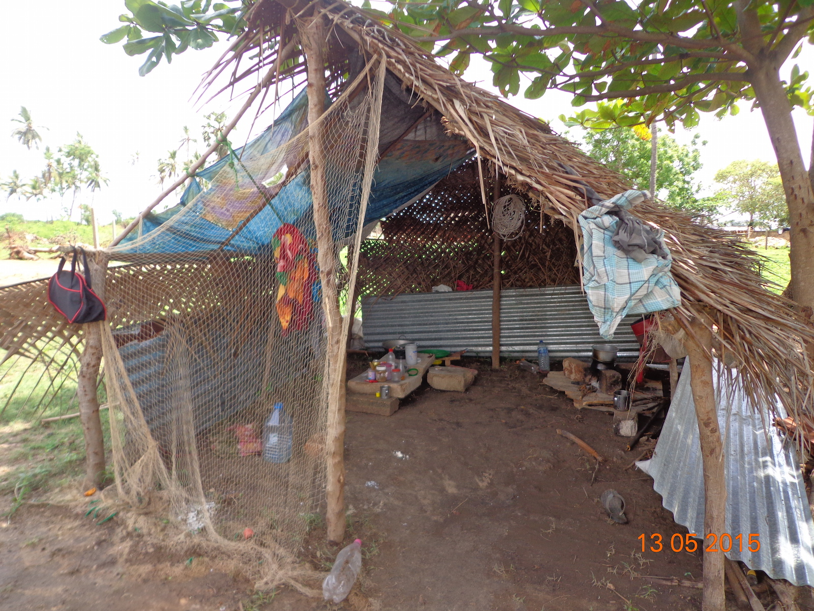Temporary shelter erected by people-2