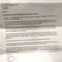 Letter issued by Director General, UDA