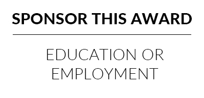 Sponsor the best community group contribution to education or employment award