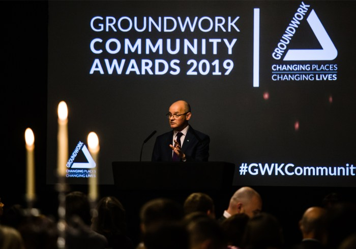 Graham Duxbury presenting at Groundwork Community Awards