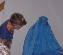 Flora-MacDonald-with-burqua conf 2003