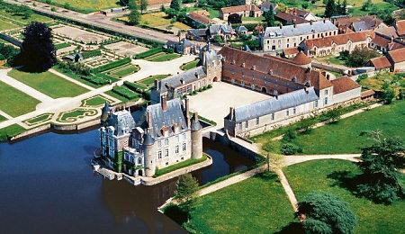 Vue aérienne château de la Buissière