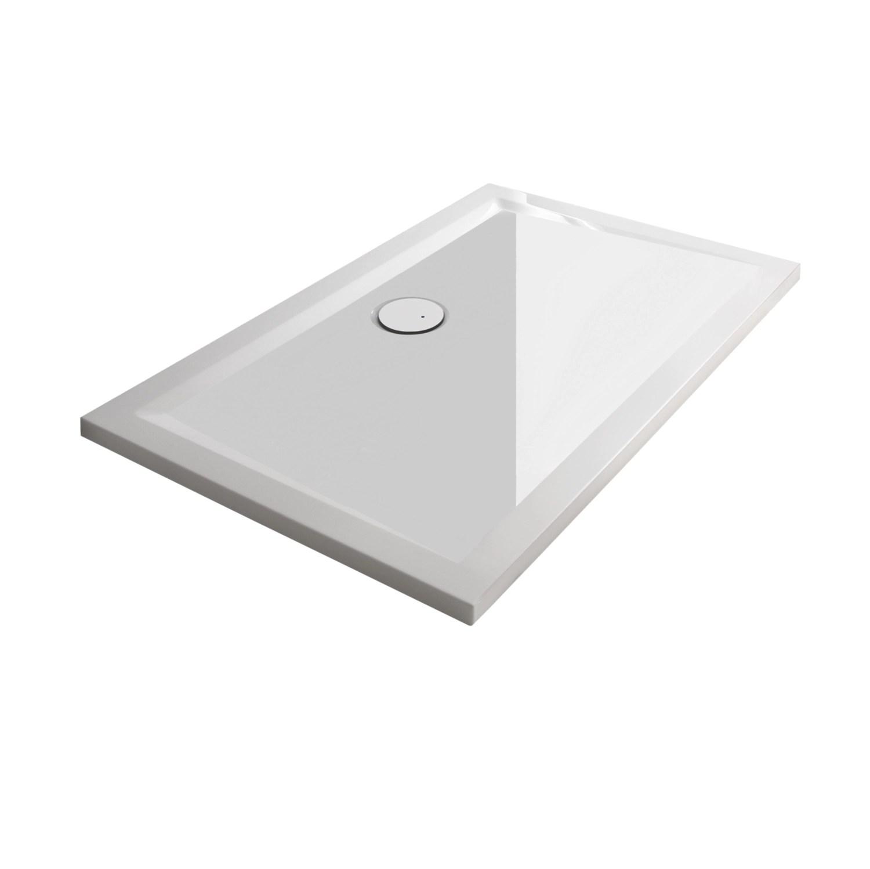 receveur space mineral extra plat rectangulaire a poser ou a encastrer