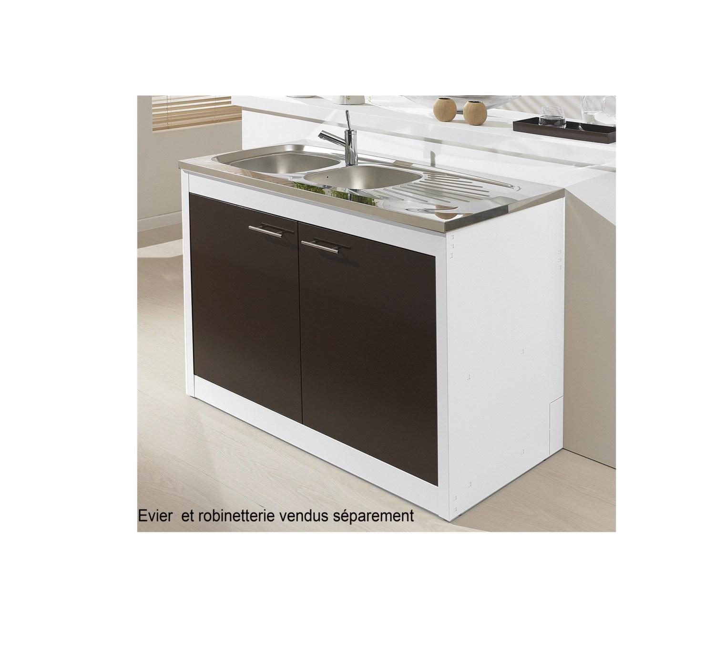 meuble sous evier clipmetal color 120 cm
