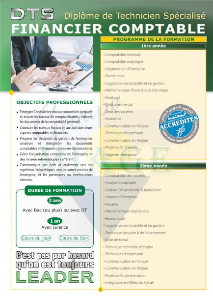 Fiche Programme TS Financier Comptable