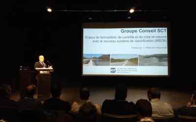 Daniel Bissonnette présente à Bitume Québec