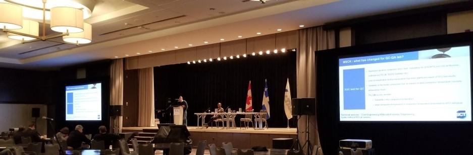 Conférence au Canadian Technical Asphalt Association