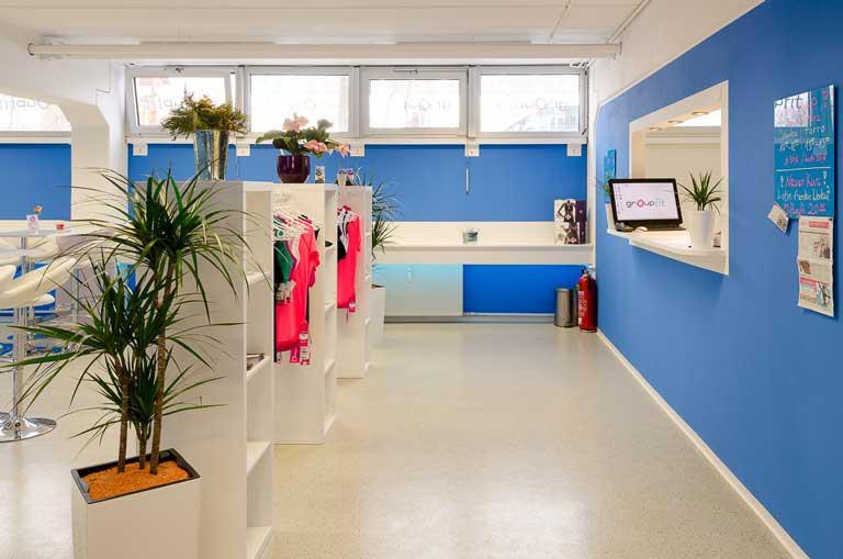 groupfit Fitnessstudio München Trudering - ohne Vertrag - Empfang