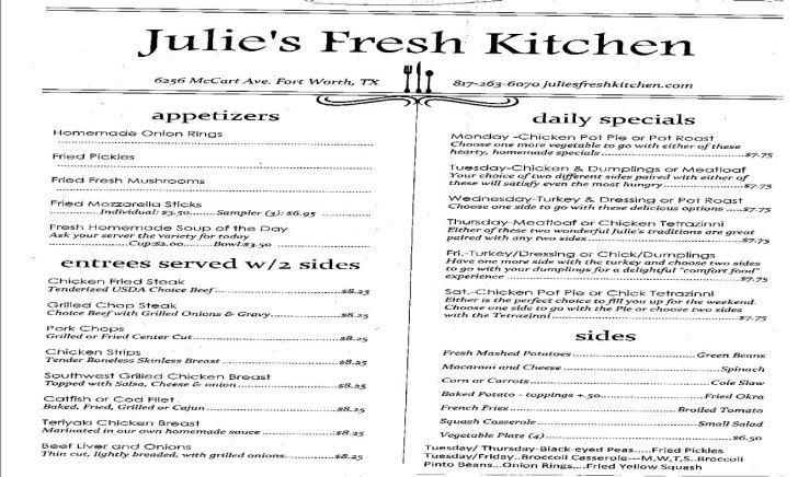 Julie Fresh Kitchen Fort Worth Groupon