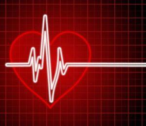 Heart Rate On a Cartoon EKG