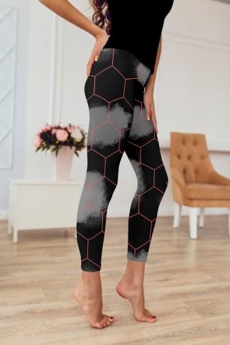 Black and Red Leggings