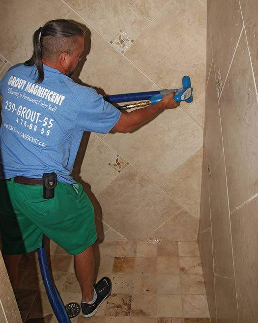 shower tile regrout restore grout