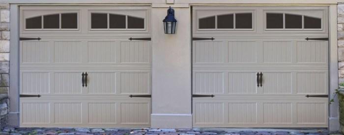 short panel garage door with windows