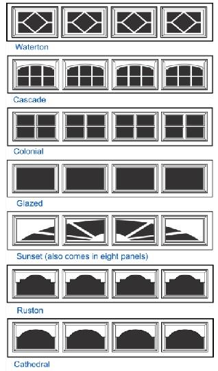 short windows for mid america garage door