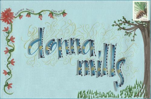 Donna Mills envelope