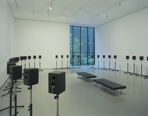 "Janet Cardiff's installation ""The Forty-Part Motet"""