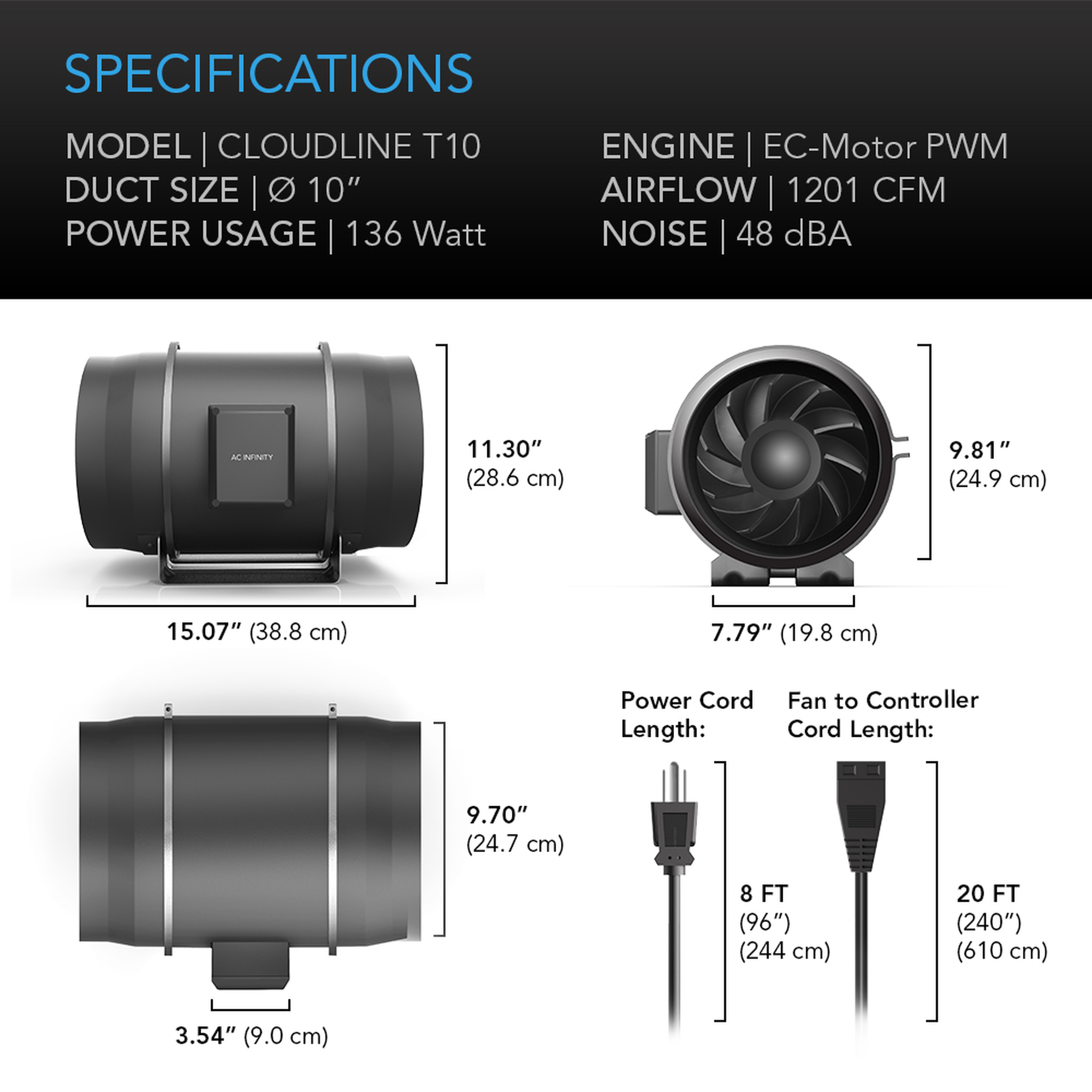 Cloudline T10 Series Specificatioins