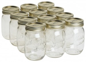 Marijuana canning jars