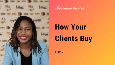 How do clients buy