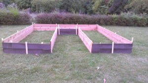 RBM Volunteer Jacque's Raised Beds Ready to Fill!