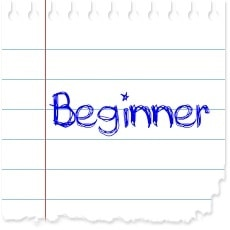 "image of a piece of paper with the word ""beginner"" written on it"