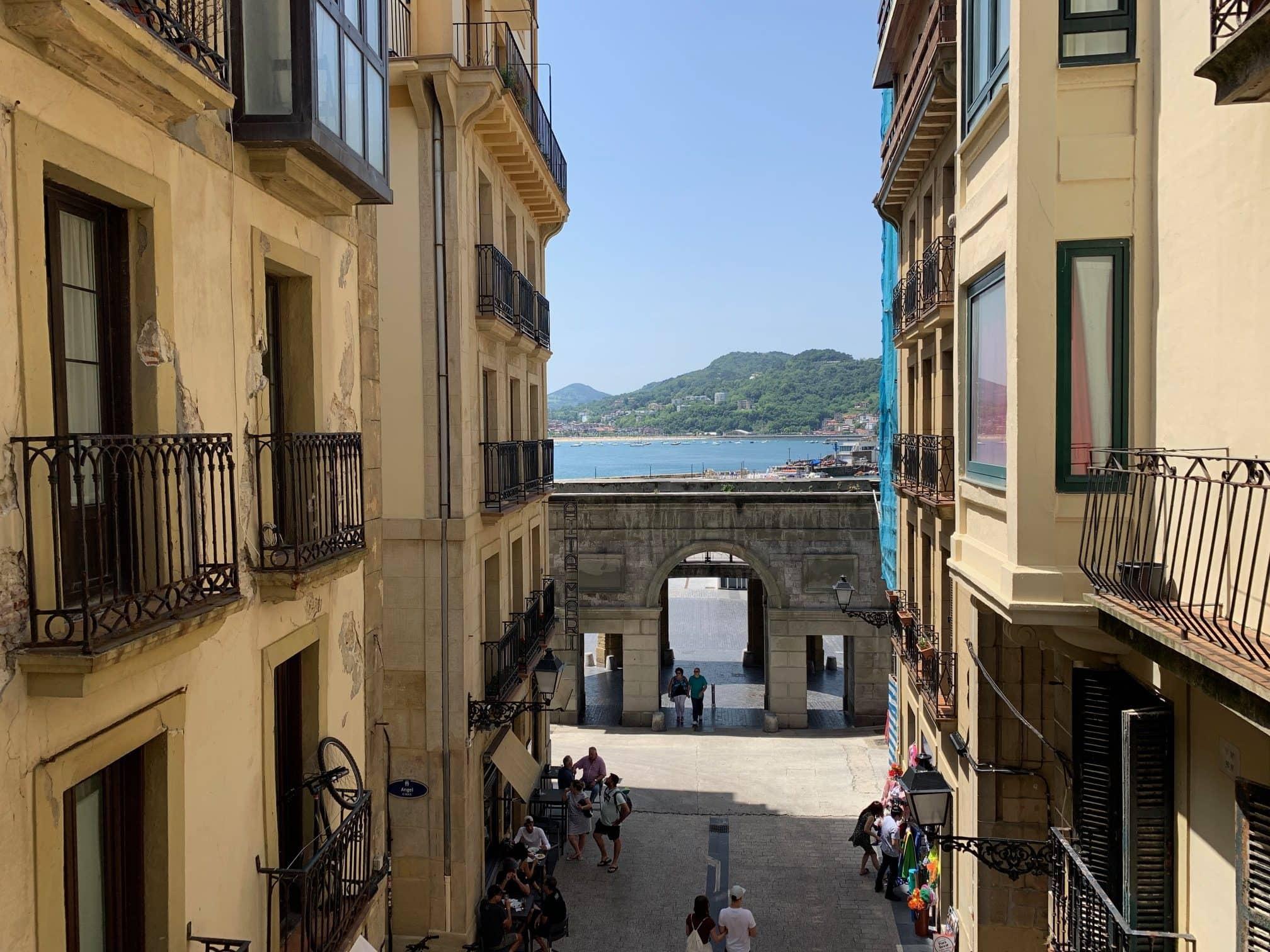 San Sebastian Old Town view