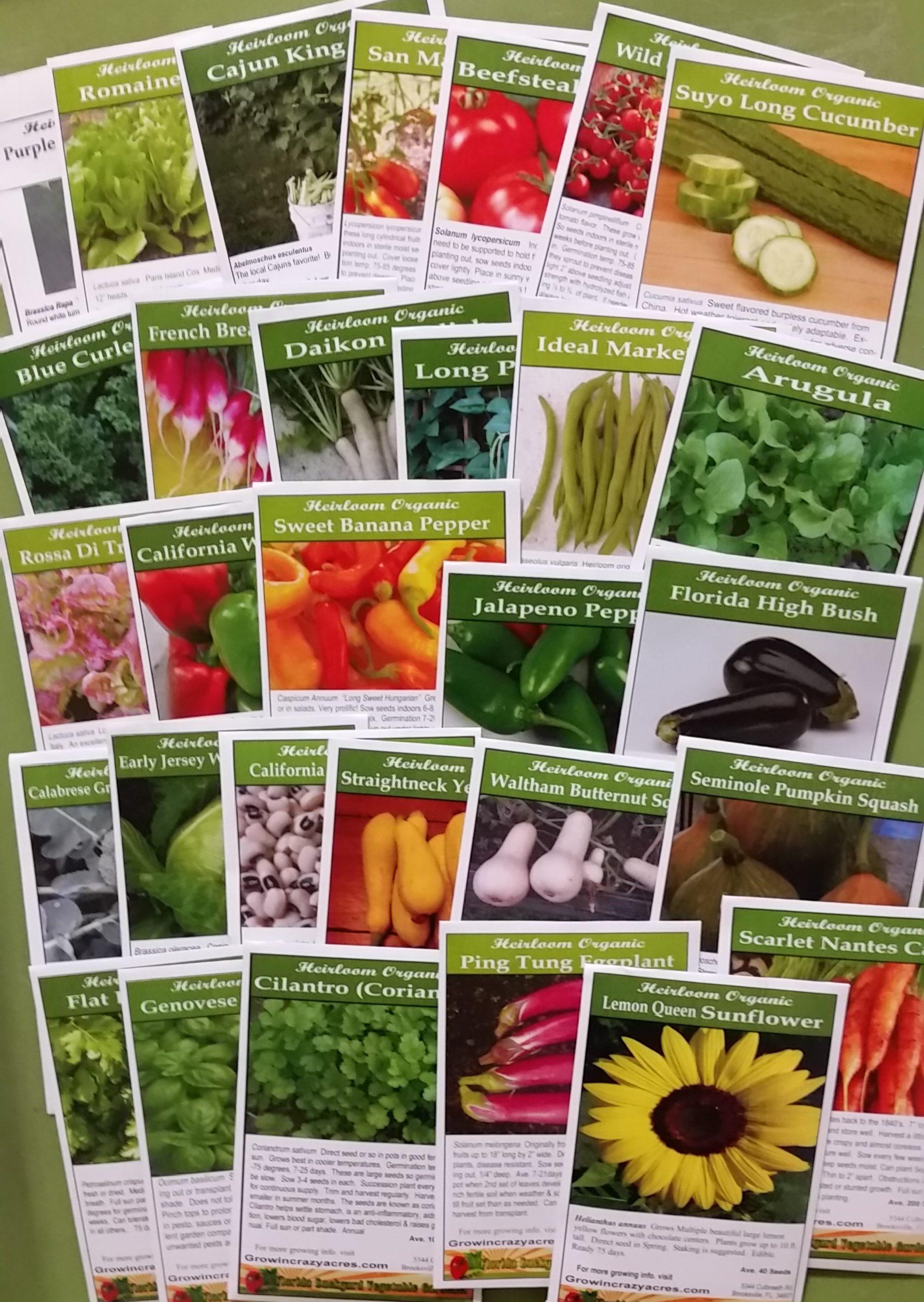 Heirloom Seed Package