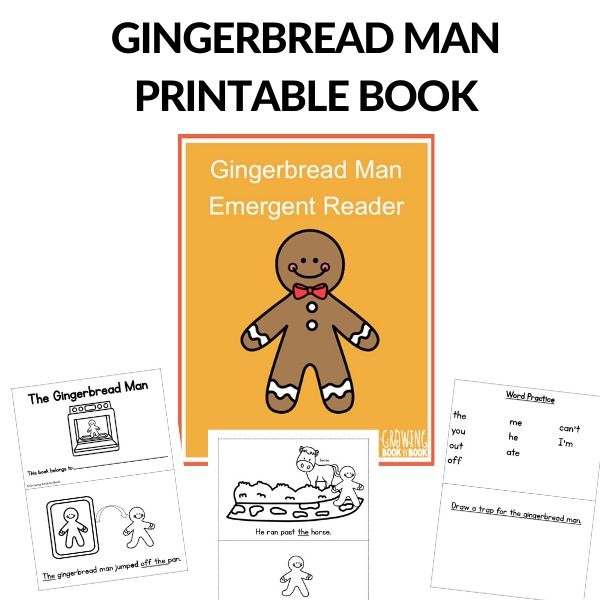 Gingerbread Man Story Printable Emergent Reader