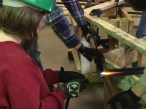 Bending metal rods for supports