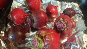 roasting beets for beetroot relish