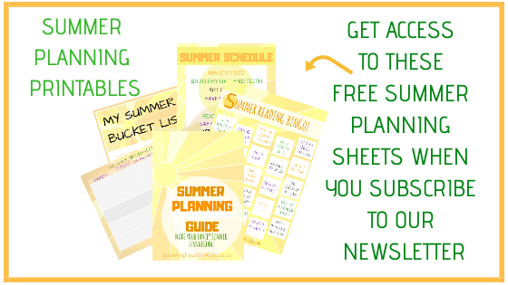 Summer Planning printables