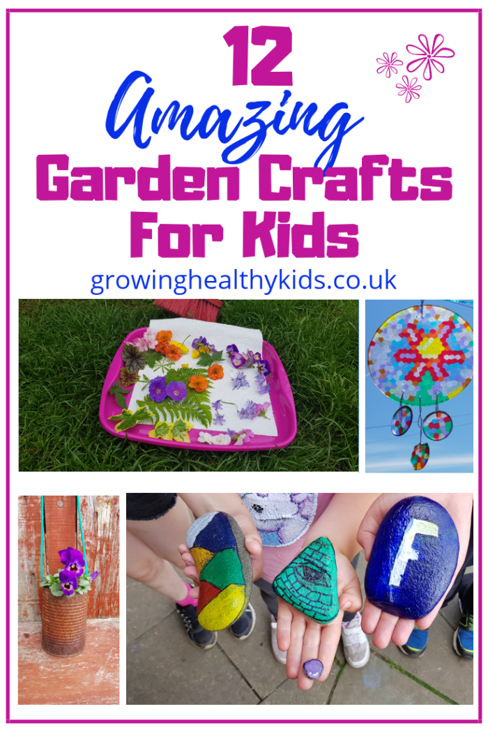 12 Amazing Garden Crafts For Kids. Super simple gardening crafts for children and families to while away the long lazy days spent in the garden.