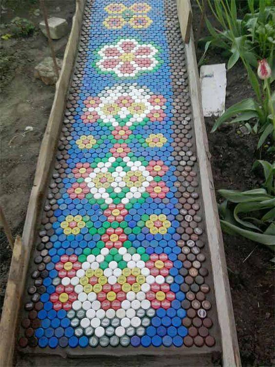 Garden Craft with bottle top.
