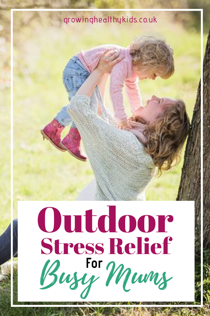 Using Gardening and outdoor activities are simple ways to find stress relief and space to find calm in the business of being  mum