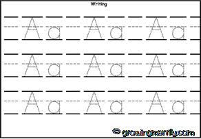 Alphabet Zoo - A for Alligator - Dotted Letters