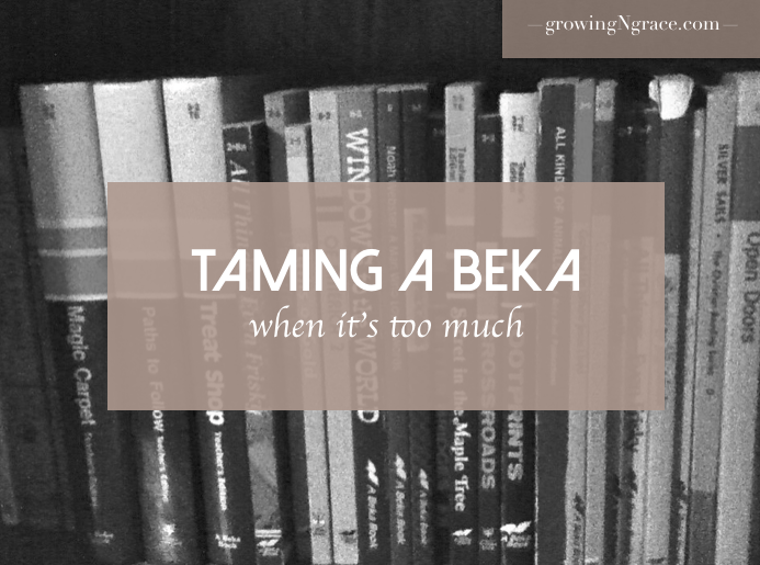 A Beka's too much | Abeka curriculum | making changes to A Beka | A Beka curriculum | when Abeka's too much