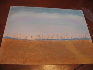Beach Scene Chalk Pastels