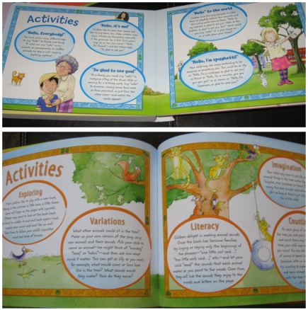 Each book comes with suggested activities for using the story with your child.