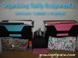 Organizing Daily Assignments