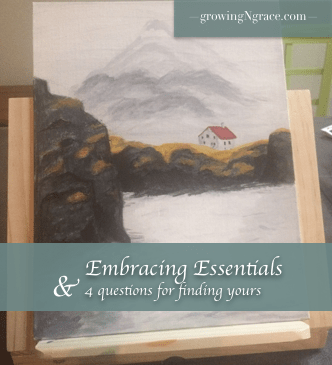essentials | finding essentials | feeling overwhelmed | feeling stressed | back to basics