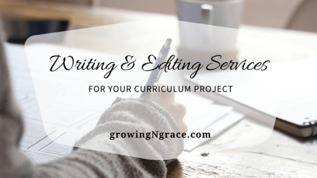 writing services | copy editor | independently contracted writer for curriculum