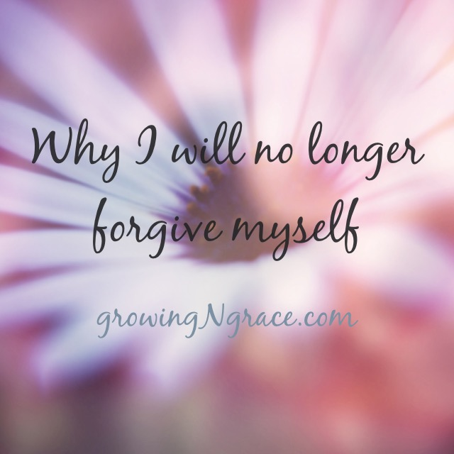Find forgiveness | no longer forgive myself | grace | healing