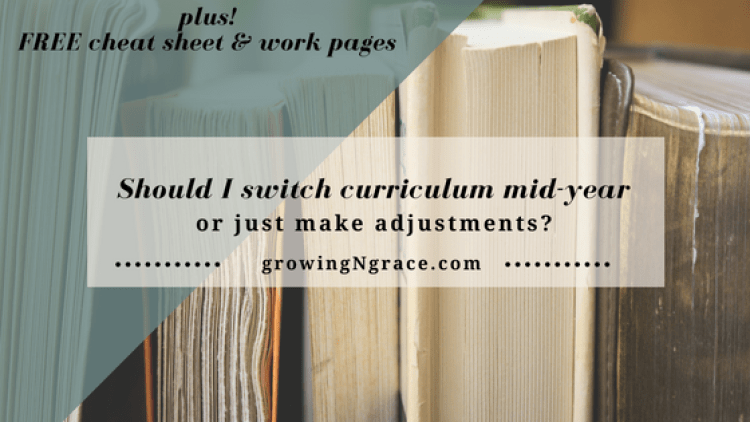 switch curriculum mid-year | making adjustments | homeschool curriculum | homeschool planning